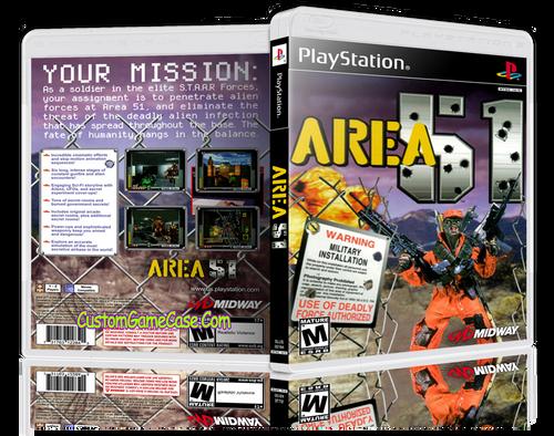 Area 51 - Sony PlayStation 1 PSX PS1 - Empty Custom Case
