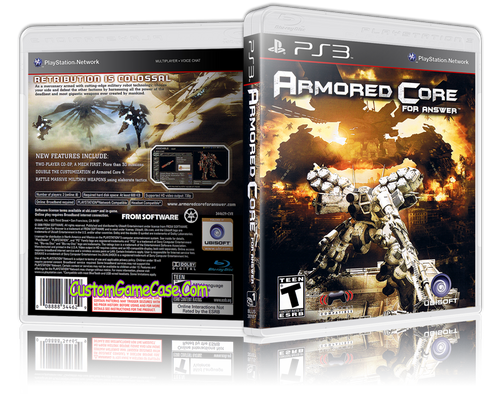 Armored Core for answer - Sony PlayStation 3 PS3 - Empty Custom Replacement Case