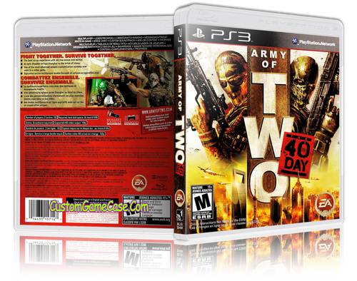 Army of Two 40th Day - Sony PlayStation 3 PS3 - Empty Custom Replacement Case