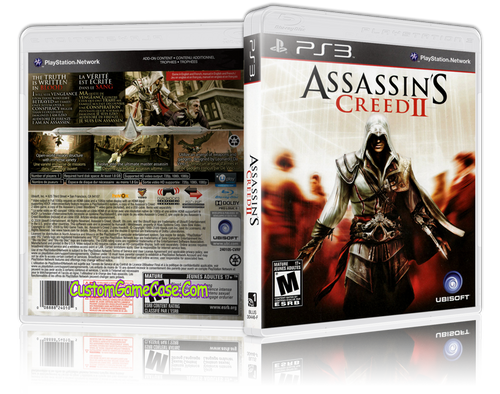 Assassins Creed 2 - Sony PlayStation 3 PS3 - Empty Custom Replacement Case