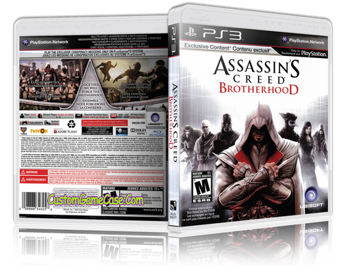 Assassins Creed Brotherhood - Sony PlayStation 3 PS3 - Empty Custom Replacement Case