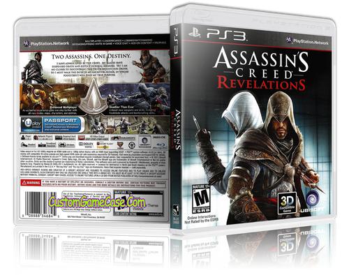 Assassins Creed Revelations - Sony PlayStation 3 PS3 - Empty Custom Replacement Case