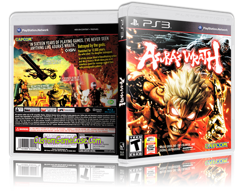 Asuras Wrath - Sony PlayStation 3 PS3 - Empty Custom Replacement Case