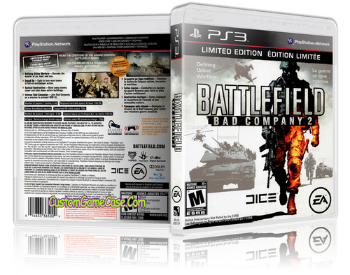 Bad Company 2 - Sony PlayStation 3 PS3 - Empty Custom Replacement Case