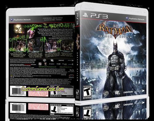 Batman Arkham Asylum - Sony PlayStation 3 PS3 - Empty Custom Replacement Case