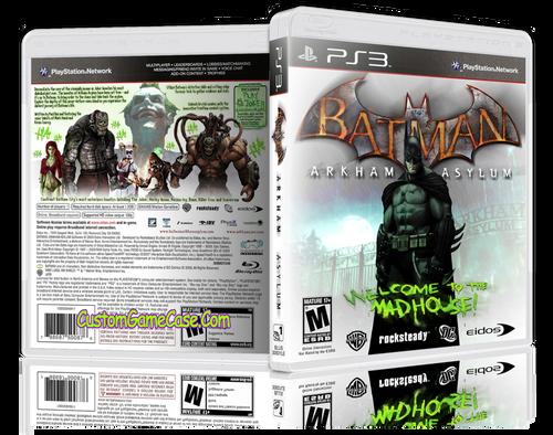 Batman Arkham Asylum (V4) - Sony PlayStation 3 PS3 - Empty Custom Replacement Case