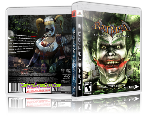 Batman Arkham Asylum (V5) - Sony PlayStation 3 PS3 - Empty Custom Replacement Case
