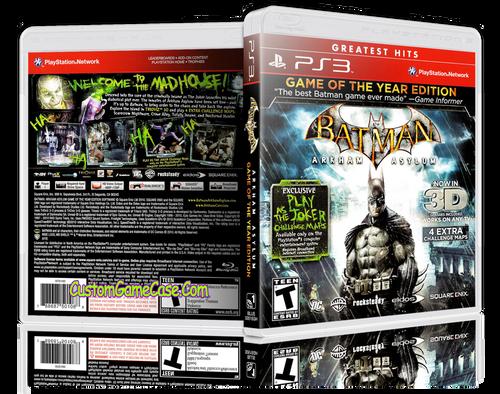 Batman Arkham Asylum (GH) - Sony PlayStation 3 PS3 - Empty Custom Replacement Case