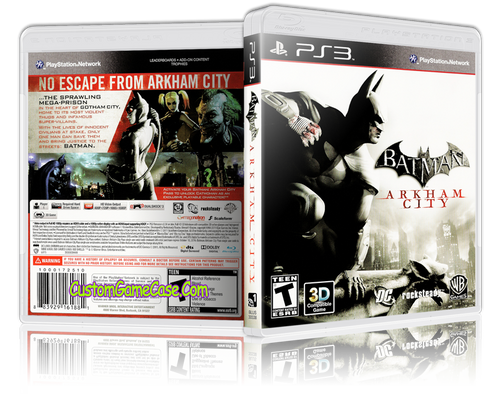 Batman Arkham City (V2) - Sony PlayStation 3 PS3 - Empty Custom Replacement Case