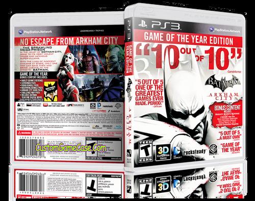 Batman Arkham City (V3) - Sony PlayStation 3 PS3 - Empty Custom Replacement Case
