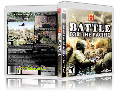 Battle for the Pacific - Sony PlayStation 3 PS3 - Empty Custom Replacement Case