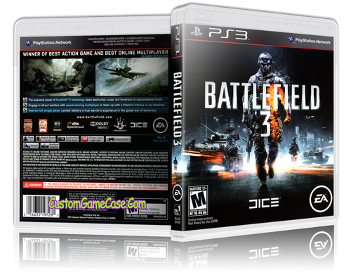 Battlefield 3 - Sony PlayStation 3 PS3 - Empty Custom Replacement Case