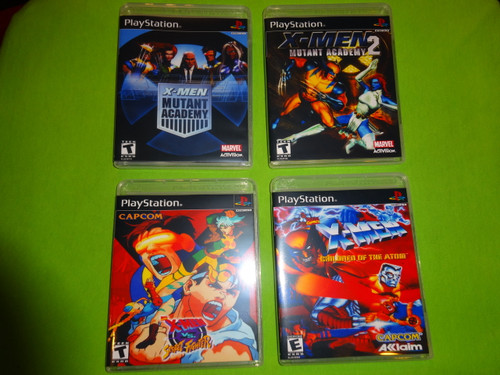 X-Men Collection Mutant Academy Sony PlayStation 1 PSX PS1 - Empty Custom Cases