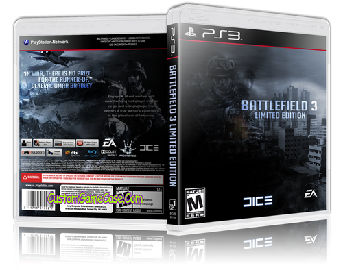 Battlefield 3 (V2) - Sony PlayStation 3 PS3 - Empty Custom Replacement Case