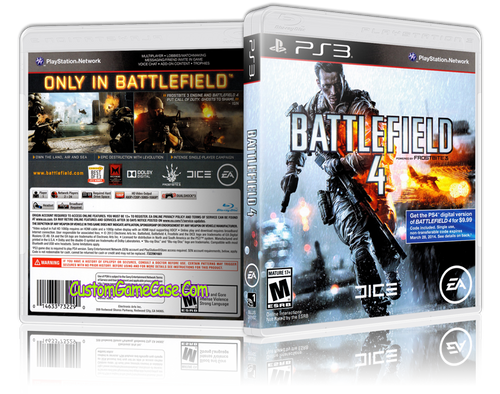 Battlefield 4 - Sony PlayStation 3 PS3 - Empty Custom Replacement Case