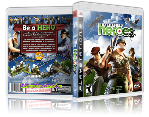 Battlefield Heroes - Sony PlayStation 3 PS3 - Empty Custom Replacement Case