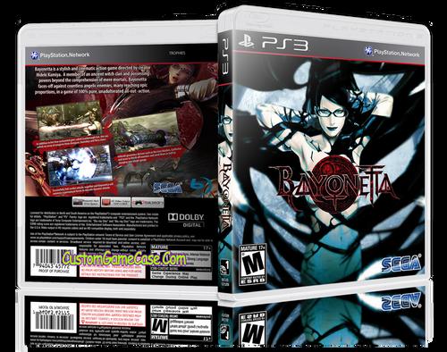 Bayonetta - Sony PlayStation 3 PS3 - Empty Custom Replacement Case