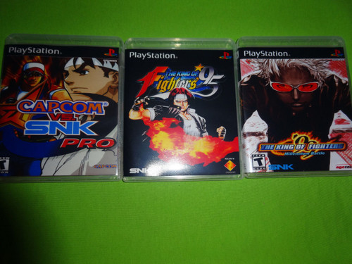 King of Fighters Collection Capcom vs SNK Pro 95 99 Sony PlayStation 1 PSX PS1 - Empty Custom Cases