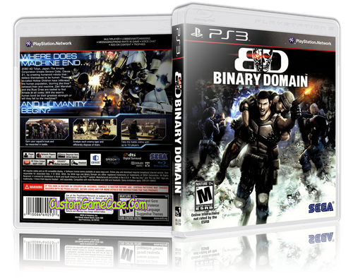 Binary Domain - Sony PlayStation 3 PS3 - Empty Custom Replacement Case