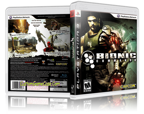 Bionic Commando - Sony PlayStation 3 PS3 - Empty Custom Replacement Case