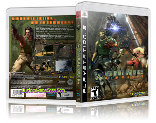 Bionic Commando (V2) - Sony PlayStation 3 PS3 - Empty Custom Replacement Case