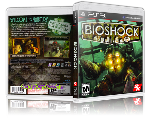 BioShock - Sony PlayStation 3 PS3 - Empty Custom Replacement Case