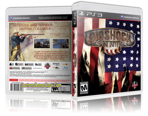 BioShock Infinite - Sony PlayStation 3 PS3 - Empty Custom Replacement Case