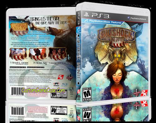 BioShock Infinite (V2) - Sony PlayStation 3 PS3 - Empty Custom Replacement Case