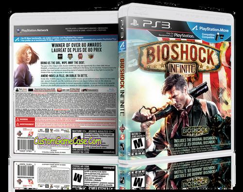 BioShock Infinite (V3) - Sony PlayStation 3 PS3 - Empty Custom Replacement Case