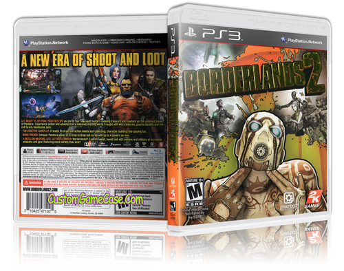 Borderlands 2 - Sony PlayStation 3 PS3 - Empty Custom Replacement Case