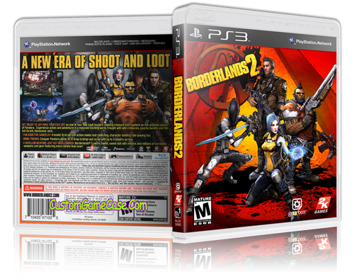 Borderlands 2 (V2) - Sony PlayStation 3 PS3 - Empty Custom Replacement Case