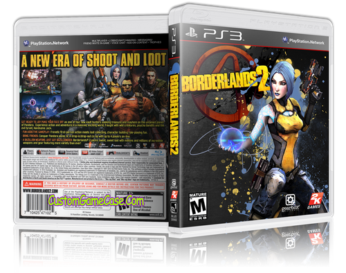 Borderlands 2 (V3) - Sony PlayStation 3 PS3 - Empty Custom Replacement Case