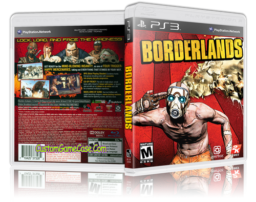 Borderlands - Sony PlayStation 3 PS3 - Empty Custom Replacement Case