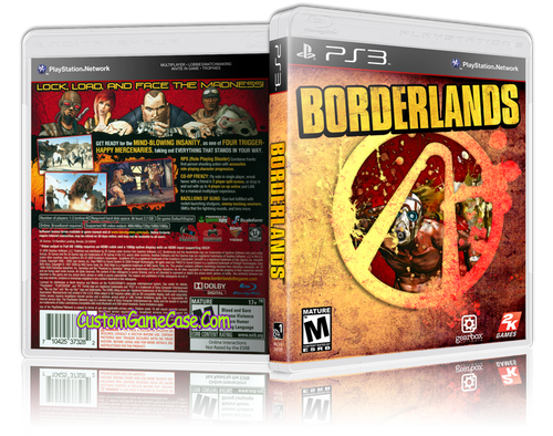 Borderlands (V2) - Sony PlayStation 3 PS3 - Empty Custom Replacement Case