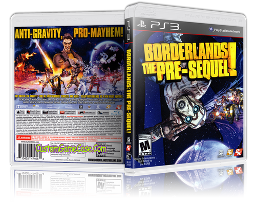 Borderlands Pre-Sequel - Sony PlayStation 3 PS3 - Empty Custom Replacement Case