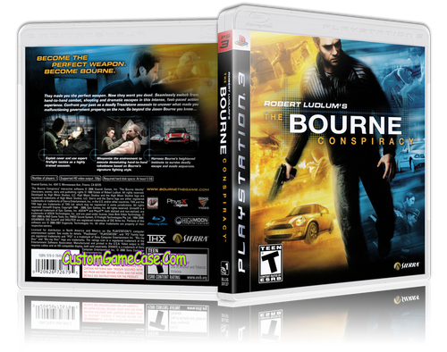 Bourne Conspiracy - Sony PlayStation 3 PS3 - Empty Custom Replacement Case