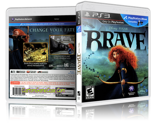 Brave - Sony PlayStation 3 PS3 - Empty Custom Replacement Case