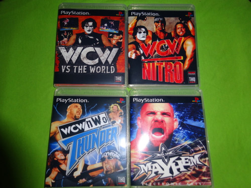 WCW Wrestling Collection Nitro Mayhem Thunder Sony PlayStation 1 PSX PS1 - Empty Custom Cases