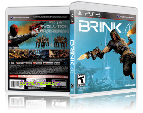 Brink - Sony PlayStation 3 PS3 - Empty Custom Replacement Case