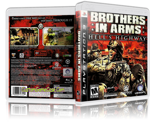 Brothers in Arms Hell's Highway - Sony PlayStation 3 PS3 - Empty Custom Replacement Case
