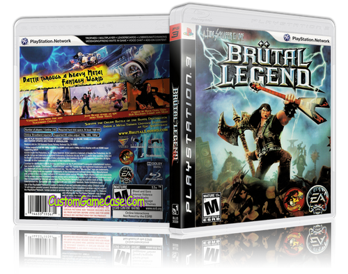 Brutal Legend  - Sony PlayStation 3 PS3 - Empty Custom Replacement Case