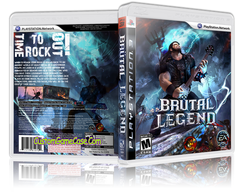 Brutal Legend (V2) - Sony PlayStation 3 PS3 - Empty Custom Replacement Case