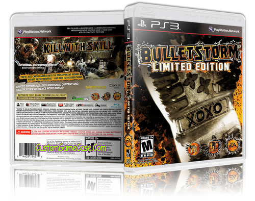 Bulletstorm - Sony PlayStation 3 PS3 - Empty Custom Replacement Case