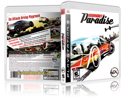 Burnout Paradise - Sony PlayStation 3 PS3 - Empty Custom Replacement Case