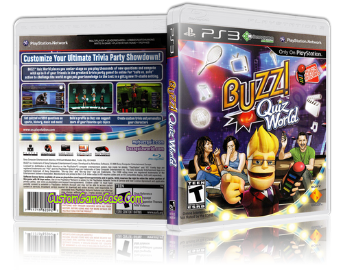 Buzz - Sony PlayStation 3 PS3 - Empty Custom Replacement Case