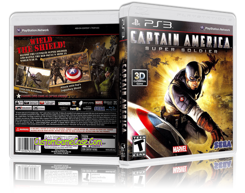 Captain America - Sony PlayStation 3 PS3 - Empty Custom Replacement Case