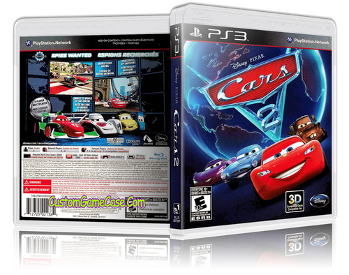 Cars 2 - Sony PlayStation 3 PS3 - Empty Custom Replacement Case