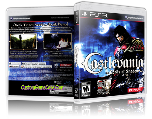 Castlevania Lords of Shadow - Sony PlayStation 3 PS3 - Empty Custom Replacement Case