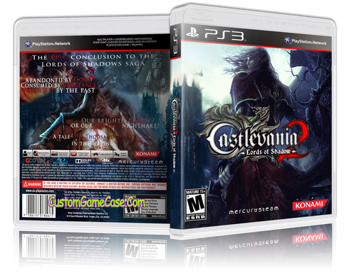 Castlevania Lords of Shadow 2 - Sony PlayStation 3 PS3 - Empty Custom Replacement Case