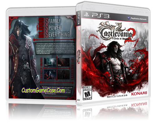 Castlevania Lords of Shadow 2 (V2) - Sony PlayStation 3 PS3 - Empty Custom Replacement Case